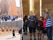 فى 15 صورة شاهد إقبال السائحين على زيارة معابد الأقصر