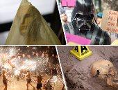 """صور.. العالم هذا الصباح.. وضع اللمسات الأخيرة لحفل توزيع جوائز الأوسكار.. آلاف الصينيين يحيون """"مهرجان المصابيح"""" بإطلاق الألعاب النارية.. العثور على مقبرة سرية داخل فيلا بالمكسيك والشرطة تستخرج الرفات"""