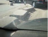 شكوى من الفوضى المرورية أسفل الطريق الدائرى بالوراق وكسر الحاجز الخرسانى