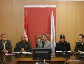 قيادات محافظة كفر الشيخ يشهدون استعراض المشروع التعبوى صقر 25 لإدارة الأزمات