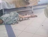 قارئ يشارك بفيديو لمريض ملقى على الأرض بمستشفى الجمهورية بالإسكندرية