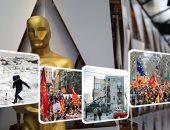 """صور.. العالم هذا المساء.. الملايين يترقبون انطلاق حفل توزيع جوائز الأوسكار.. الأسد: الحالة الإنسانية بالغوطة """"كذبة سخيفة"""" من الغرب.. إلغاء 30 رحلة جوية بروسيا بسبب الثلوج.. ومصرع 4 أشخاص فى انهيار منزل ببولندا"""
