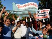 """صور.. مظاهرات فى نيوديلهى ضد شراء الهند لـ36 طائرة من طراز """"رافال"""""""