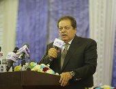 """قصيدة """"هو ممكن يبقى فى مصر غير السيسى الرئيس"""" بمؤتمر بالجيزة.. فيديو"""
