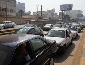 كثافات مرورية بشارع السودان وميدان الدقى بسبب أعمال اﻹصلاحات