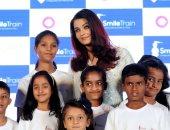 نجمة بوليوود الهندية أيشواريا راى تحتفل بنجاح حملة Smile Train