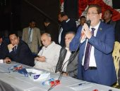 صور.. ممثل الحركة الوطنية بمؤتمر دعم السيسى بالسنطة: مصر تواجه تحديات كبيرة