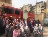 التعليم تنفذ تجربة إخلاء بمدرسة الحسين بإدارة وسط القاهرة
