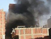 انتداب المعمل الجنائى فى حريق مصنع أخشاب بالمدينة الصناعية بأسوان
