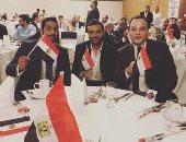 تامر عبد المنعم ورامى صبرى وأحمد فلوكس فى مؤتمر دعم الرئيس السيسى بدبى