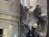 انهيار عقار من 6 طوابق خالى من السكان بالإسكندرية دون خسائر بشرية