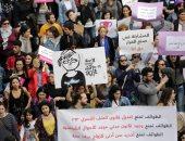 صور.. آلاف السيدات يشاركن فى مسيرة تضامنية مع المرأة السورية فى لبنان