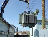 تركيب محولات كهربائية جديدة وإزالة تعديات على 4 أفدنة فى الحامول بكفر الشيخ