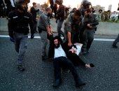 الشرطة الإسرائيلية: اعتقال 37 شخصا فى مظاهرة لليهود المحتجين على تجنيدهم