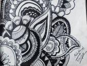 """""""ندى"""" رسامة تشارك بمجموعة """"بورتريهات"""" فنية باستخدام الرصاص وألوان المياه"""
