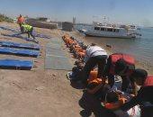 مطار أسوان ينفذ تجربة طوارئ لسيناريو سقوط طائرة فى بحيرة ناصر