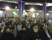 راعى كنيسة الوراق بمؤتمر دعم السيسى: من يحاول شق وحدة المصريين سيغرق (فيديو)