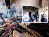 النار تلتهم 5 منازل.. تجدد حرائق القرية 17 بكفر الشيخ بعد توقفها 17 يوما