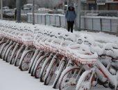 صور.. تساقط كثيف للثلوج على مدينة شينيانج بالصين