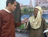 صور.. مُسن أسوانى يدعو المواطنين للمشاركة فى الانتخابات ودعم الرئيس