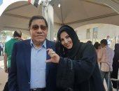 المستشار عبد المجيد محمود يدلى بصوته فى الانتخابات بأبو ظبى