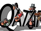 """تداول كاريكاتير يفضح تعاون """"ثلاثى الشر"""" قطر وإسرائيل وتركيا مع داعش"""