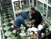 فيديو .. سرقة صيدلية بآلة حادة فى الوراق