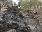 أهالى منشية طنبارة يشكون من تجمع لمياه الصرف الصحى فى مدخل القرية