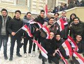 صور.. مصريون بأوكرانيا يسافرون 12 ساعة للإدلاء بأصواتهم بانتخابات الرئاسة
