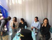 """صور.. السجينات يستقبلن نيللى كريم بالزغاريد فى احتفال """"سجن النساء"""" بعيد الأم"""