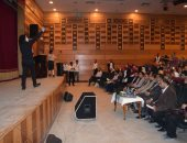 """سكرتير عام محافظة المنيا يشهد ختام برنامج """"محكي الشباب"""""""