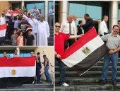 الحملة الرسمية للسيسي تنشر صور المصريين بانتخابات الرئاسة فى عمان