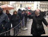 الجالية المصرية تتحدى الثلوج وتشارك بالانتخابات الرئاسية بألمانيا