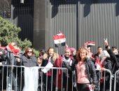 """""""صوت مصر بالخارج"""": إقبال كبير من المصريين على القنصلية المصرية فى نيويورك"""