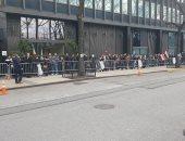 طابور طويل من الناخبين المصريين أمام قنصلية مصر فى نيويورك