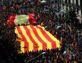 مظاهرات فى مدينة برشلونة الإسبانية دعما لزعماء انفصاليين مسجونين