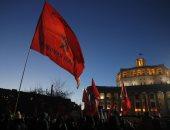 صور.. مظاهرات بموسكو احتجاجا على فوز بوتين فى الانتخابات الرئاسية