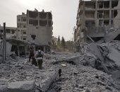الجيش السورى يحتفل بالنصر بعد انسحاب مسلحى المعارضة من أغلب الغوطة
