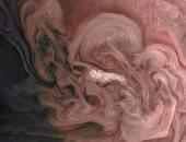 ناسا تكشف عن صور جديدة للعواصف على كوكب المشترى