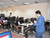 """صور.. رئيس قسم الأخبار بـ""""اليوم السابع"""" يحاضر طلاب جنوب السودان بـ""""إعلام القاهرة"""""""