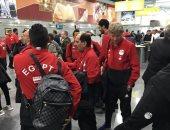 شاهد.. المنتخب الوطنى فى مطار القاهرة قبل السفر إلى سويسرا