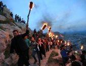 صور.. أكراد العراق يحتفلون بعيد النوروز على طريقتهم الخاصة