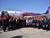مصر للطيران تنقل المنتخب إلى سويسرا فى أول مشوار المونديال بروسيا 2018