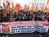 صور.. مظاهرات نقابية حاشدة ضد إصلاحات الرئيس الفرنسى فى السكة الحديد