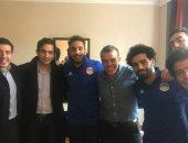 صور.. خالد مرتجى ينشر صورا مع لاعبى المنتخب فى سويسرا قبل مباراة البرتغال