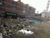 صور.. تراكم القمامة بجوار مجمع مدارس الديدامون بالشرقية ومطالب بتطهير المكان