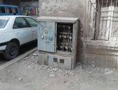 مطالب بصيانة كابينة كهرباء فى شارع مستشفى وادى الطب بشبرا الخيمة