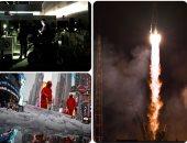 """صور.. العالم هذا الصباح.. انطلاق مركبة """"سويوز"""" المأهولة من كازاخستان إلى محطة الفضاء الدولية.. انقطاع الكهرباء عن الملايين فى شمال البرازيل.. واكتشاف مقبرة بشرية تعود لحضارة """"تشيمو"""" فى بيرو"""