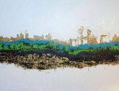"""لوحة """"نهر السكون"""" لـ أحمد فريد بيعت بـ  16,250 دولار بمزاد كريستيز دبى"""
