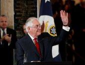 صور.. وزير الخارجية الأمريكى المقال يودع موظفى الوزارة فى واشنطن